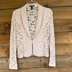 INC light pink lace blazer